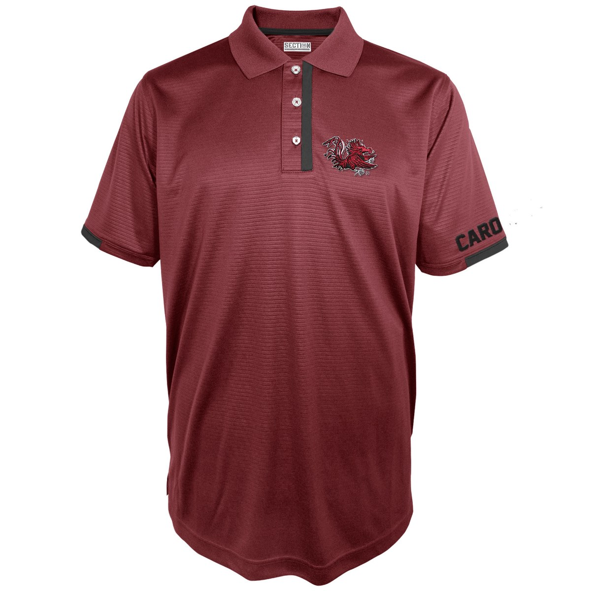 "South Carolina Gamecocks Majestic NCAA ""3rd Down"" Performance Polo Shirt"