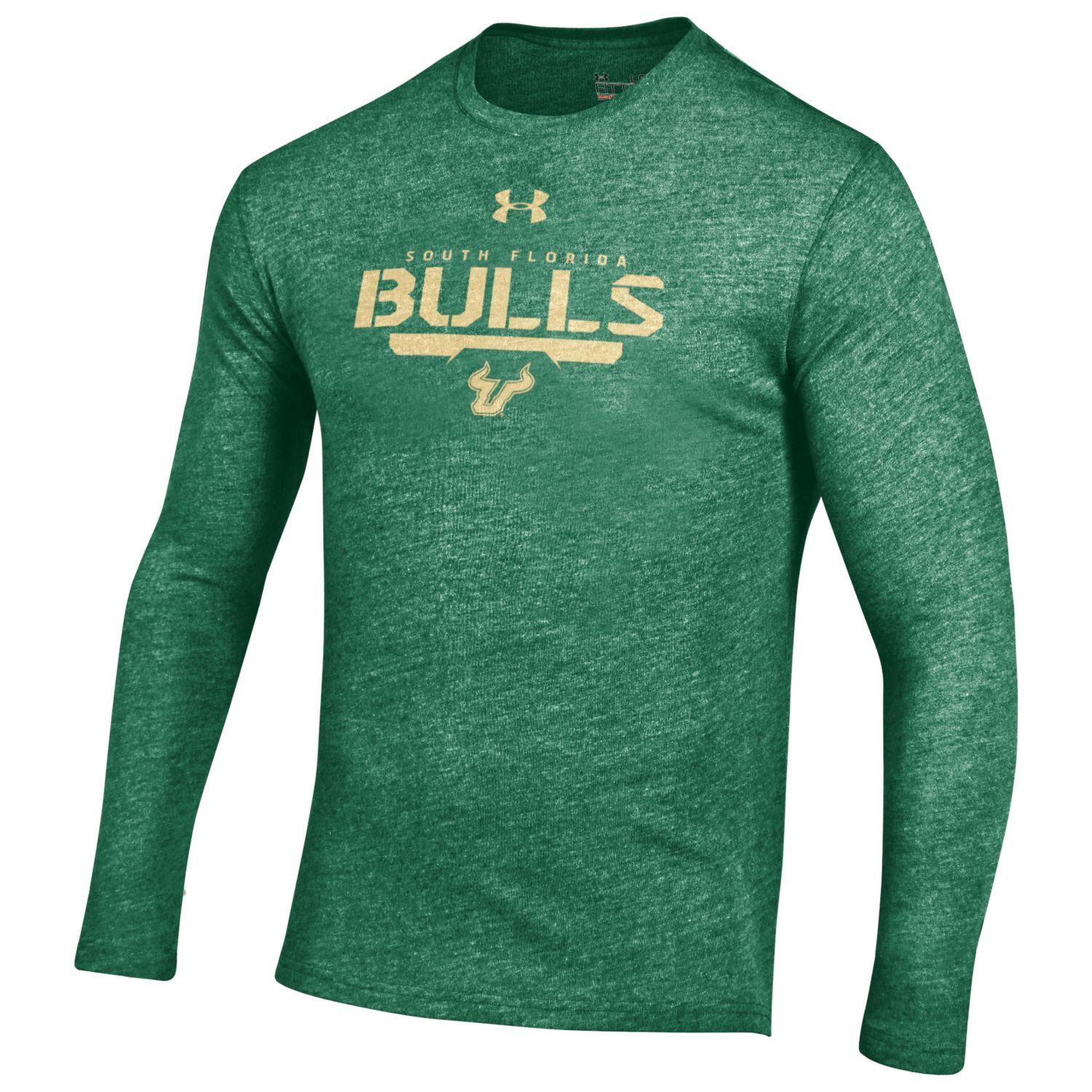 "South Florida Bulls Under Armour NCAA ""Safety Blitz"" Tri-Blend L/S Shirt"