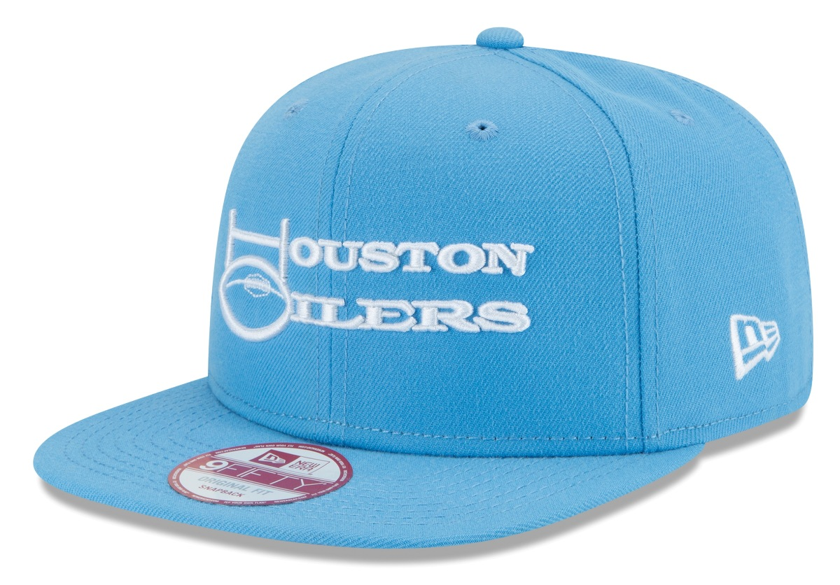 Houston Oilers New Era 9FIFTY NFL Historic Baycik Snapback Hat
