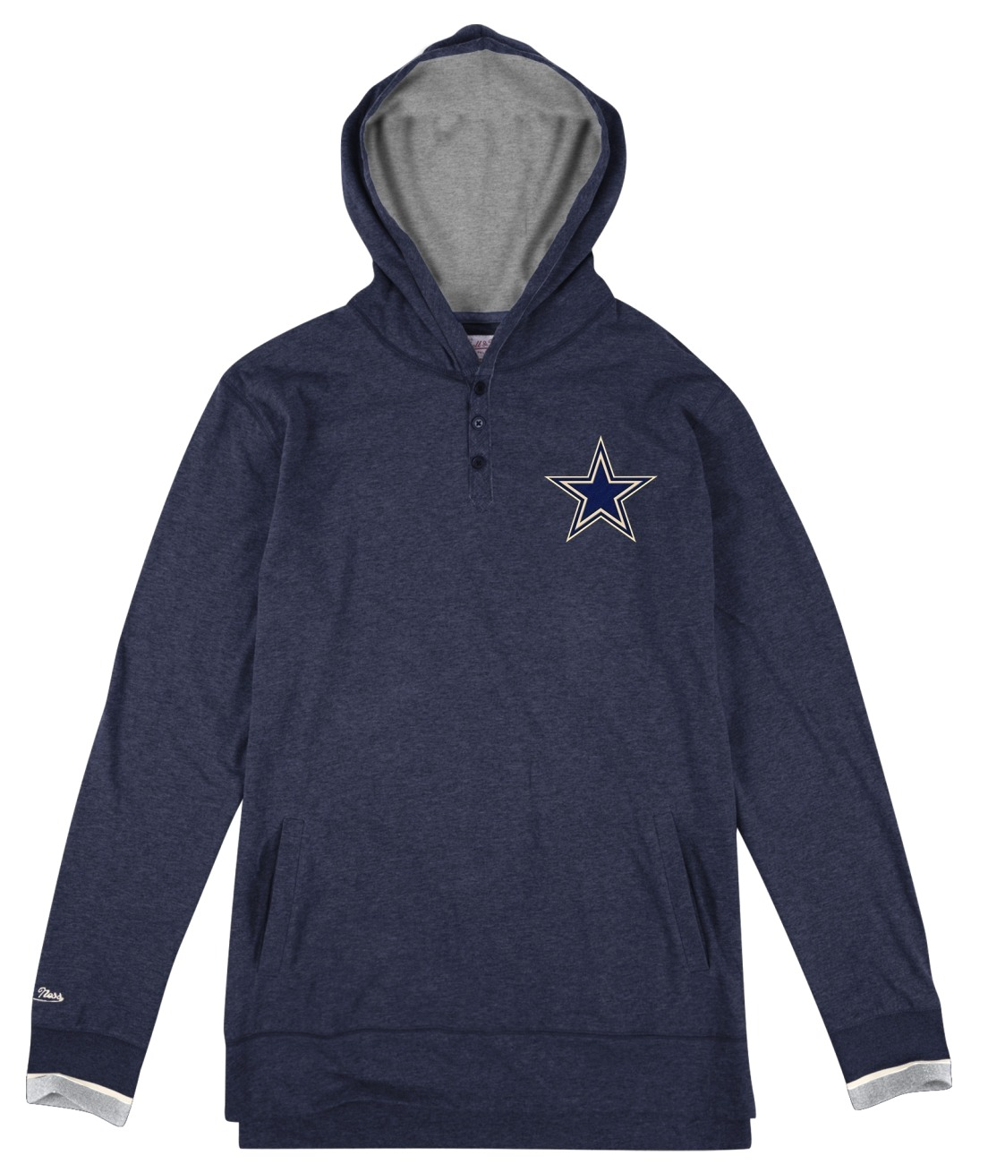"Dallas Cowboys Mitchell & Ness NFL ""Seal The Win"" Long Sleeve Hooded Men's Shirt"