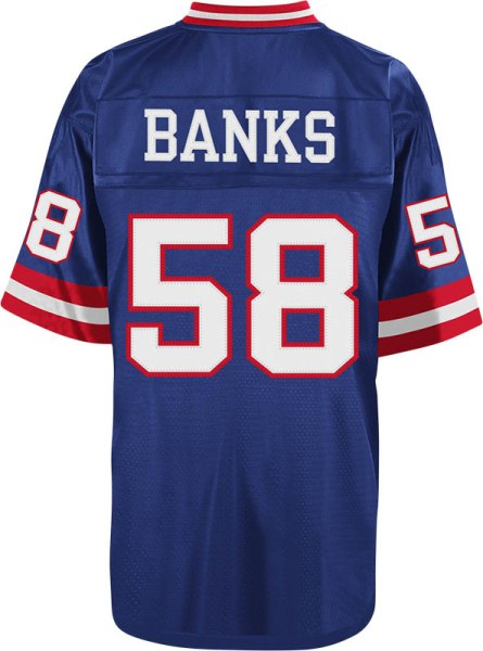 Carl Banks New York Giants NFL Mitchell & Ness Throwback Premier Jersey - Blue