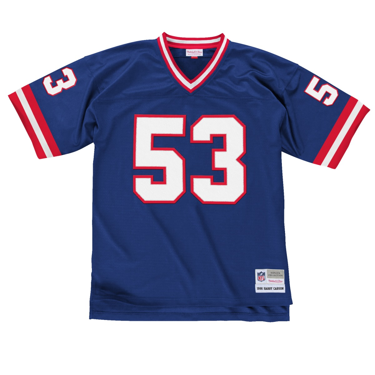 Harry Carson New York Giants Men's NFL Mitchell & Ness Premier Blue Jersey