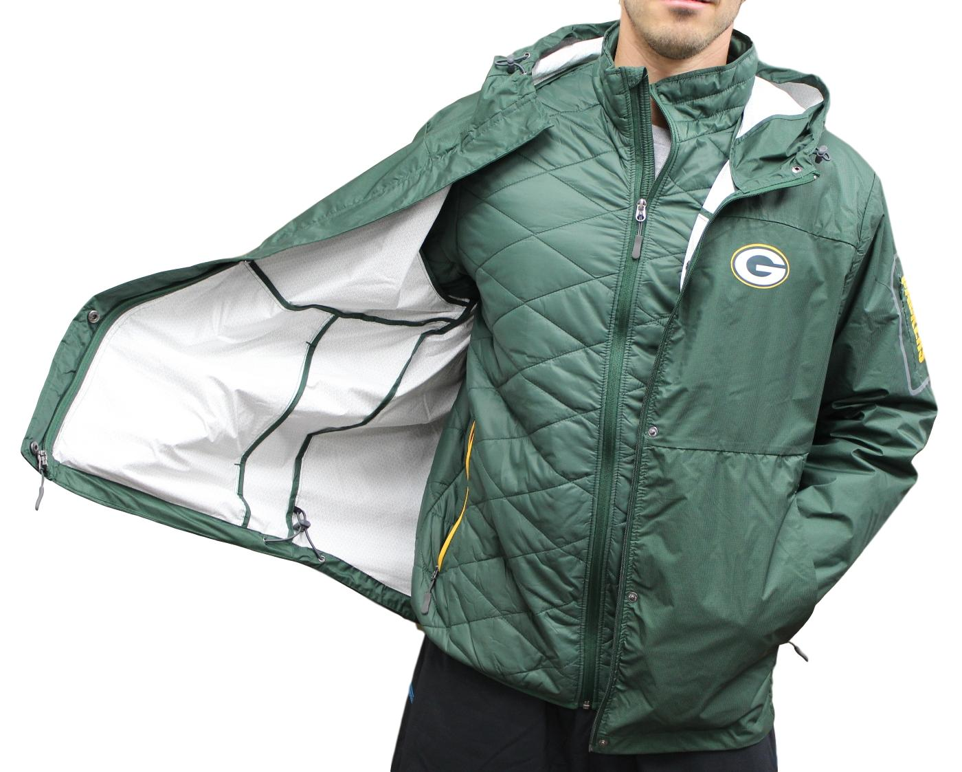 "Green Bay Packers G-III NFL ""Acclimate"" Systems 3-in-1 Premium Hooded Jacket"