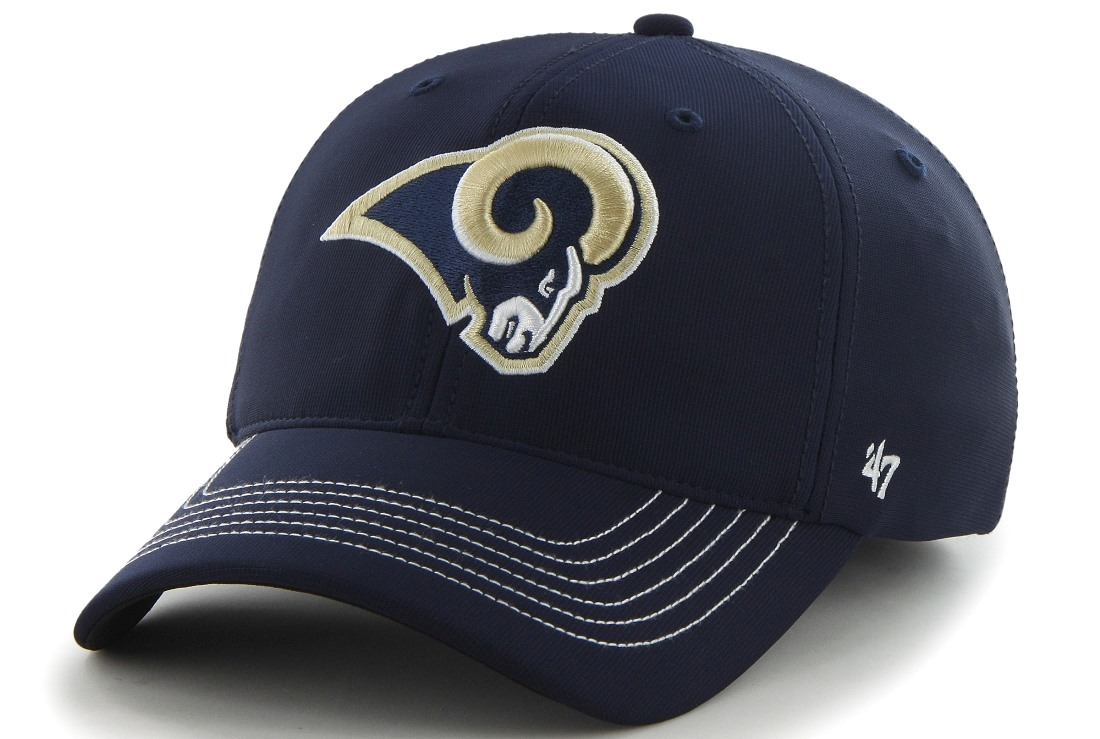 "St. Louis Rams 47 Brand NFL ""Game Time"" Navy Stretch Fit Hat"