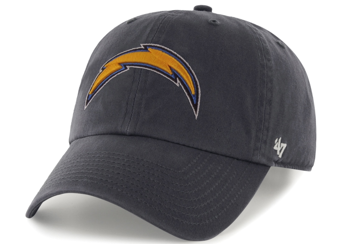 San Diego Chargers 47 Brand NFL Navy Clean Up Adjustable Hat