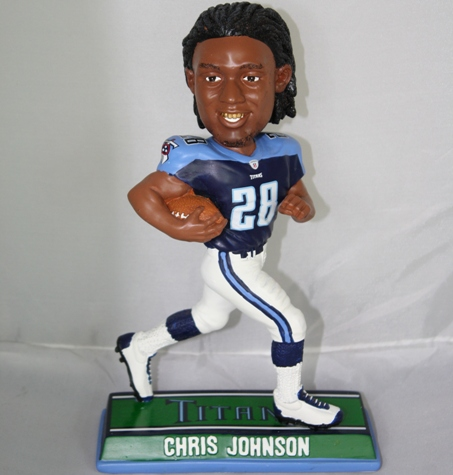 Chris Johnson Tennessee Titans End Zone Bobblehead Figurine