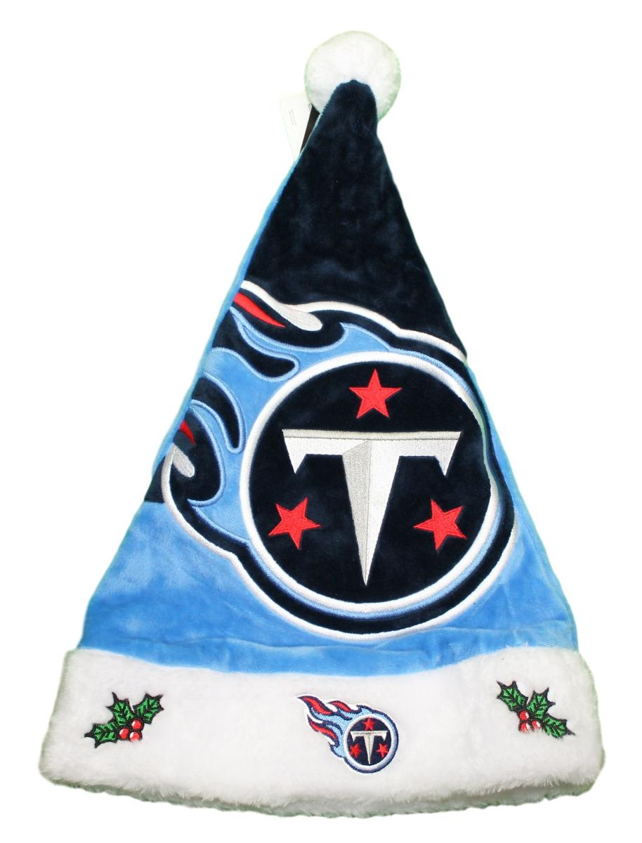 Tennessee Titans 2018 NFL Basic Logo Plush Christmas Santa Hat