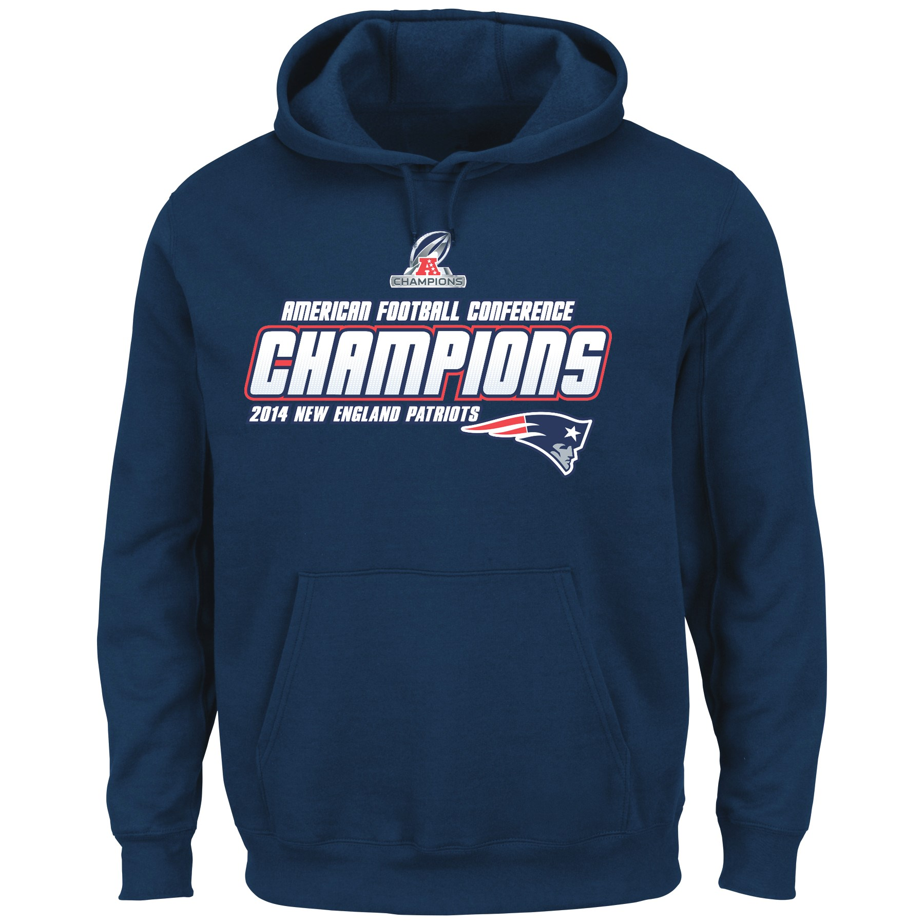 New England Patriots Majestic 2014 AFC Conference Champions Supremacy Sweatshirt