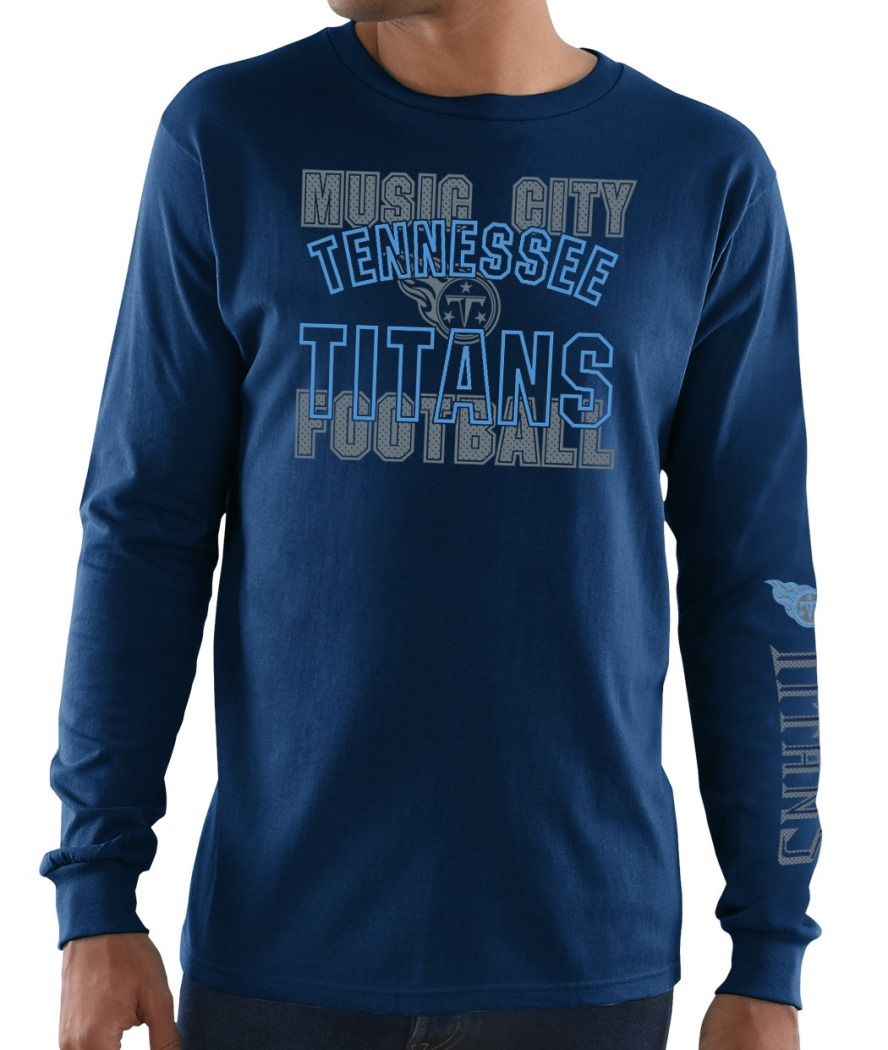 Tennessee Titans Majestic NFL Primary Receiver 3 Men's Long Sleeve T-Shirt