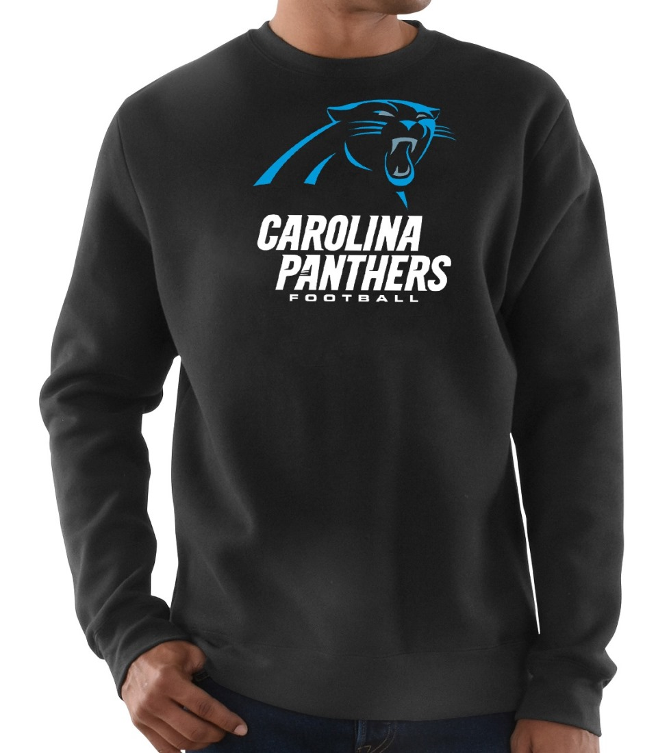 "Carolina Panthers Majestic NFL ""Critical Victory 3"" Men's Crew Sweatshirt"