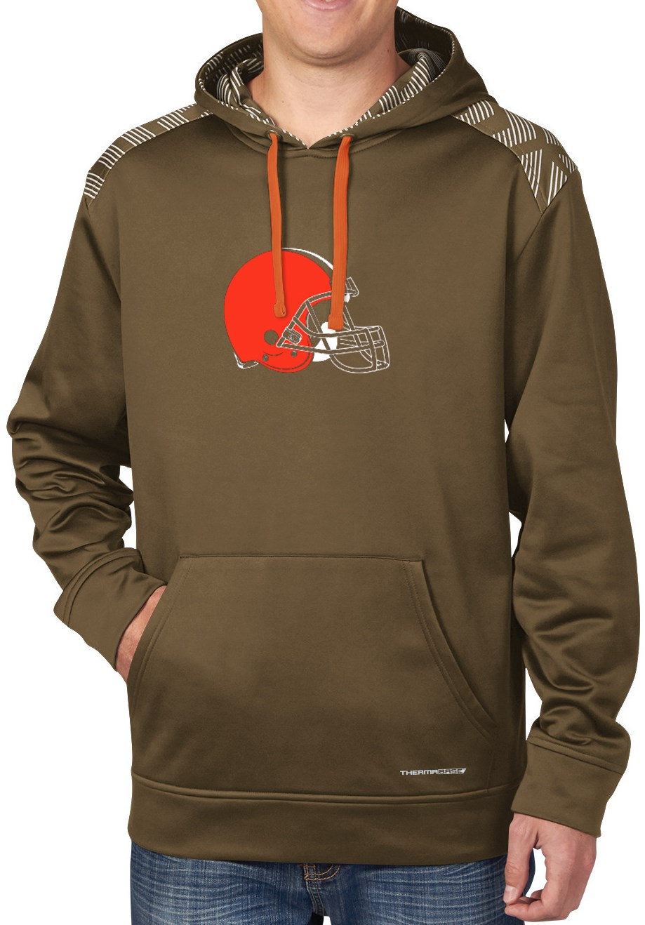 "Cleveland Browns Majestic NFL ""Armor"" Men's Pullover Hooded Sweatshirt"