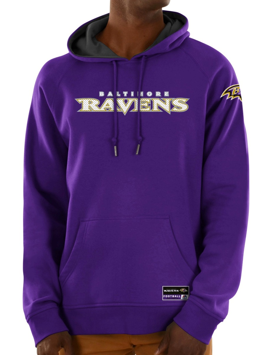 "Baltimore Ravens Majestic NFL ""Dynasty"" Men's Pullover Hooded Sweatshirt"