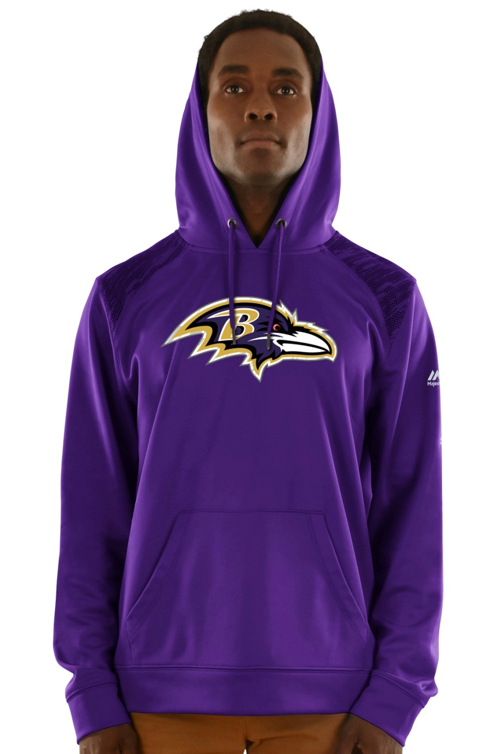 "Baltimore Ravens Majestic NFL ""Armor 3"" Men's Pullover Hooded Sweatshirt"