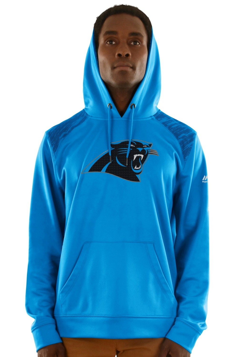 "Carolina Panthers Majestic NFL ""Armor 3"" Men's Pullover Hooded Sweatshirt"
