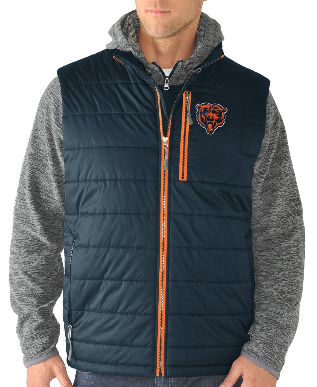 "Chicago Bears G-III NFL ""Double Track"" Systems 3-in-1 Premium Vest Jacket"