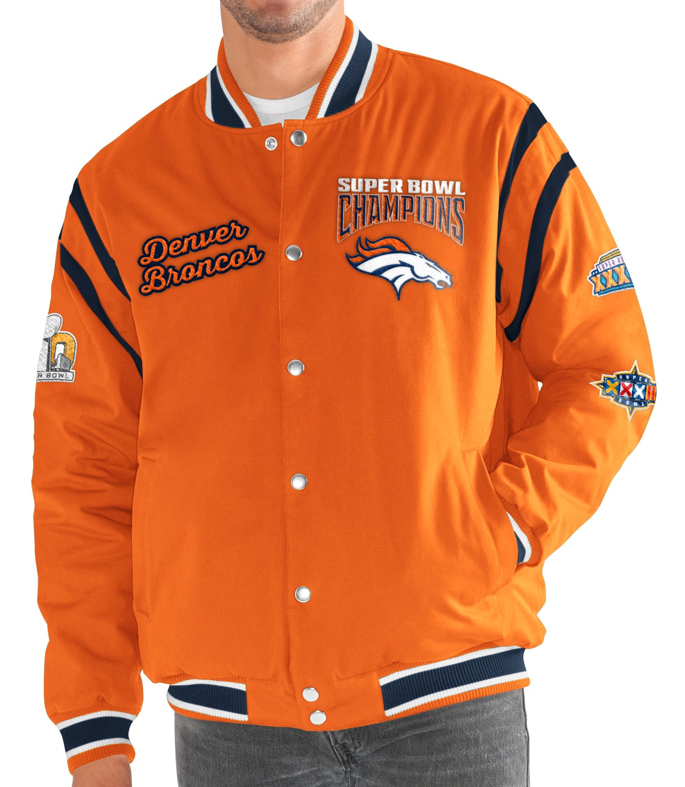 "Denver Broncos G-III NFL ""All Time"" Men's Commemorative Varsity Jacket"