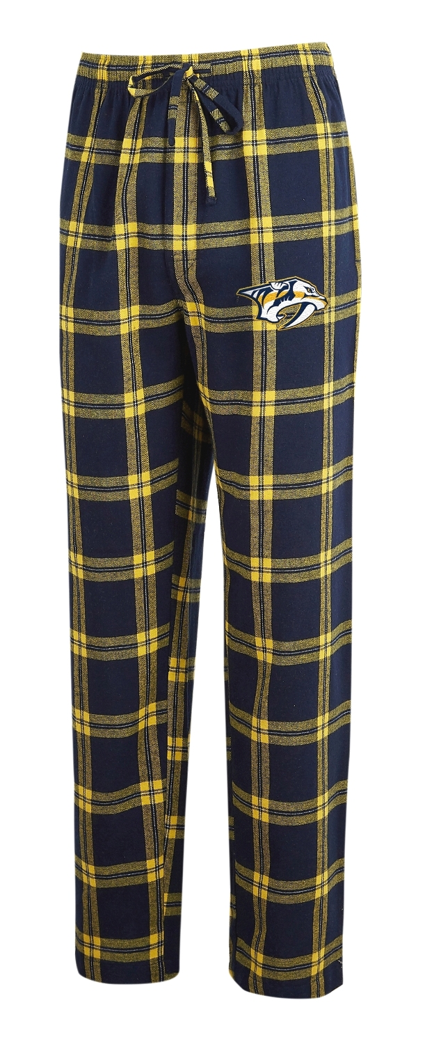 "Nashville Predators NHL ""Homestretch"" Men's Flannel Pajama Sleep Pants"
