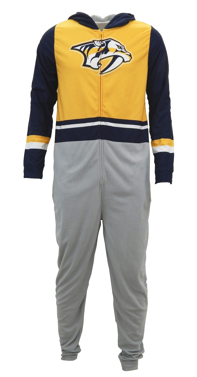 "Nashville Predators NHL ""Warm Up"" Unisex Micro Fleece Union Suit"