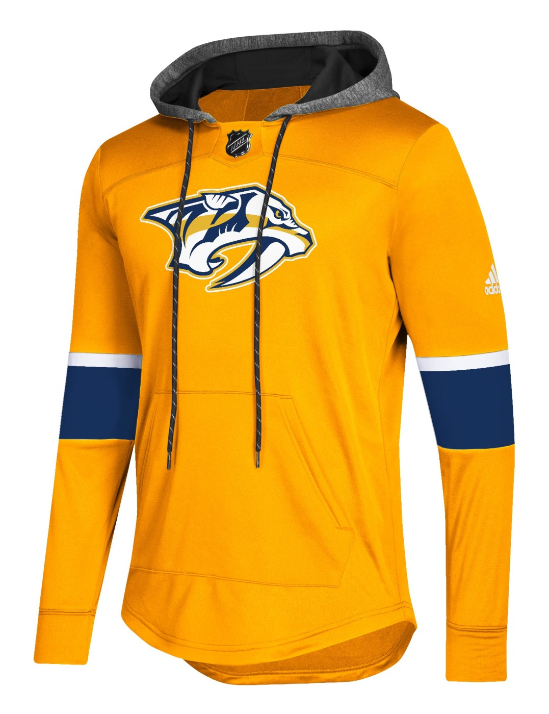 "Nashville Predators Adidas NHL Men's ""Blue Line"" Premium Hooded Sweatshirt"