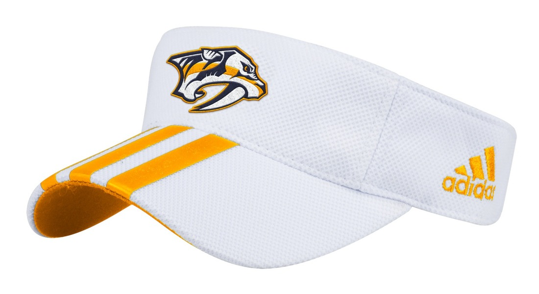 "Nashville Predators Adidas NHL ""2 Line Pass"" Performance Adjustable Visor"