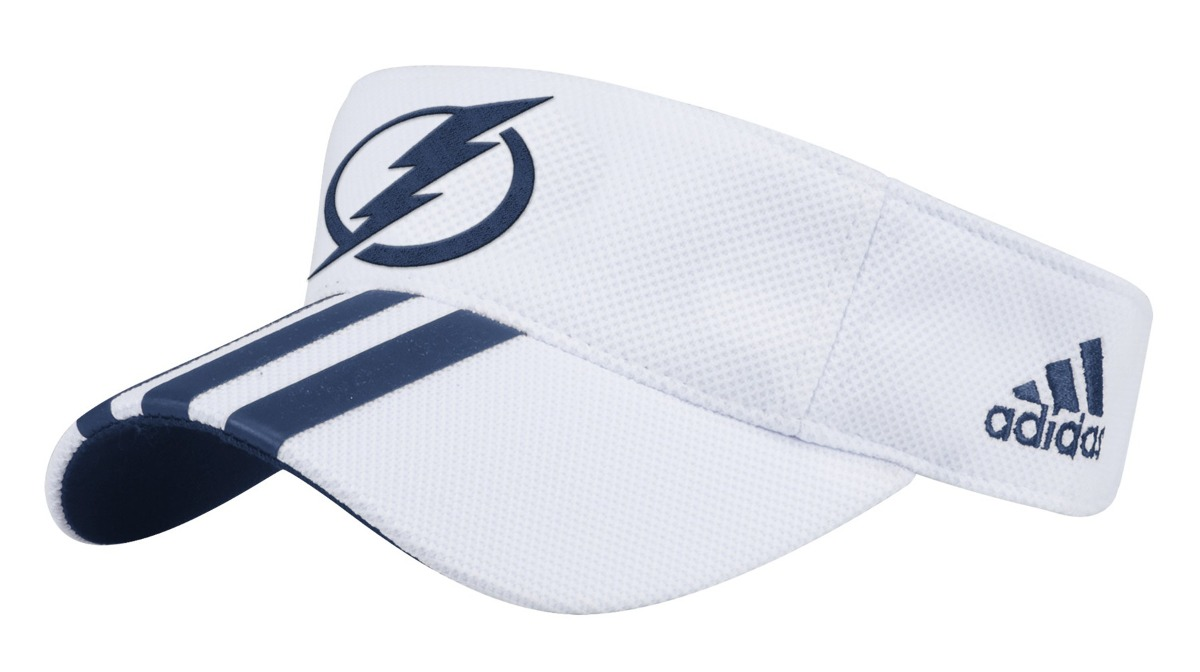 "Tampa Bay Lightning Adidas NHL ""2 Line Pass"" Performance Adjustable Visor"