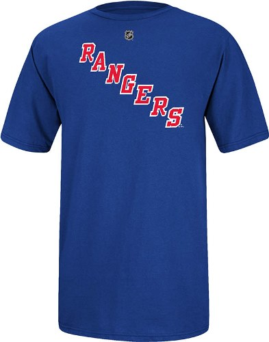 Henrik Lundqvist New York Rangers Reebok NHL Player Blue T-Shirt
