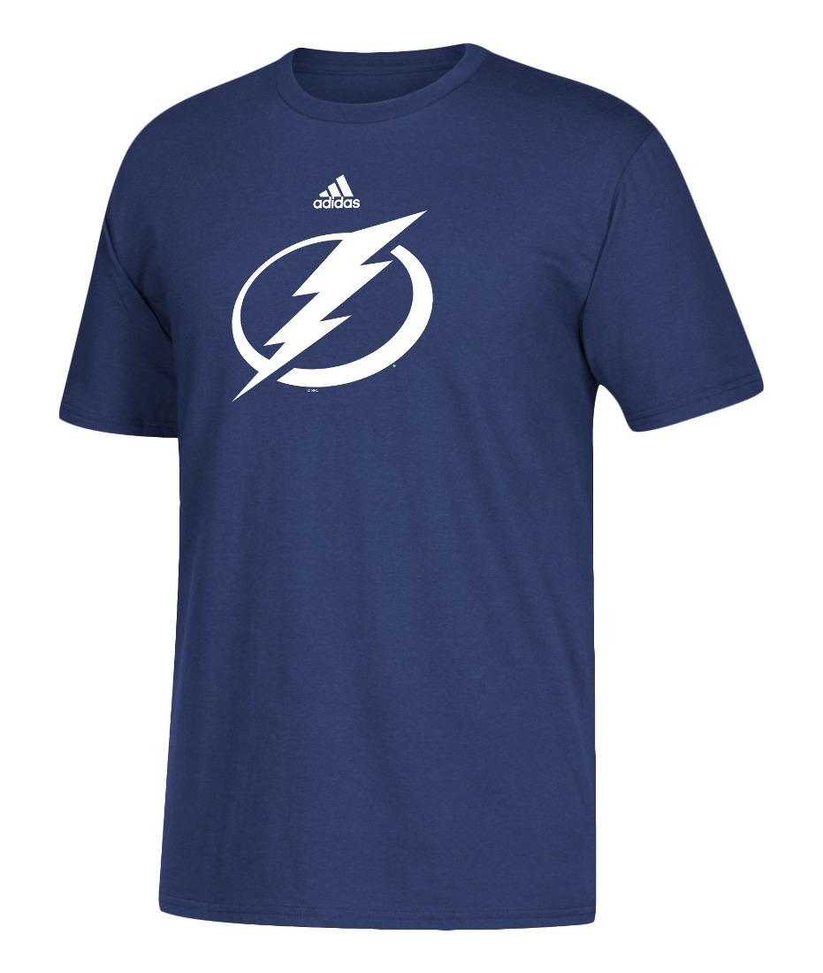 Tampa Bay Lightning Adidas NHL Primary Logo Men's Blue Short Sleeve T-Shirt
