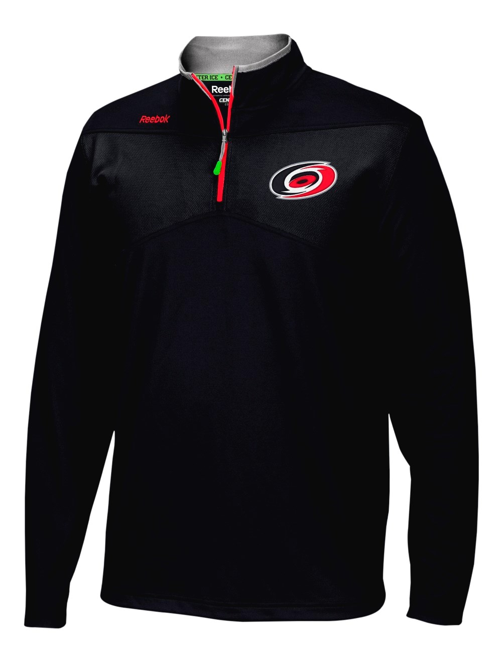 Carolina Hurricanes Reebok NHL 2016 Center Ice Speedwick 1/4 Zip Sweatshirt