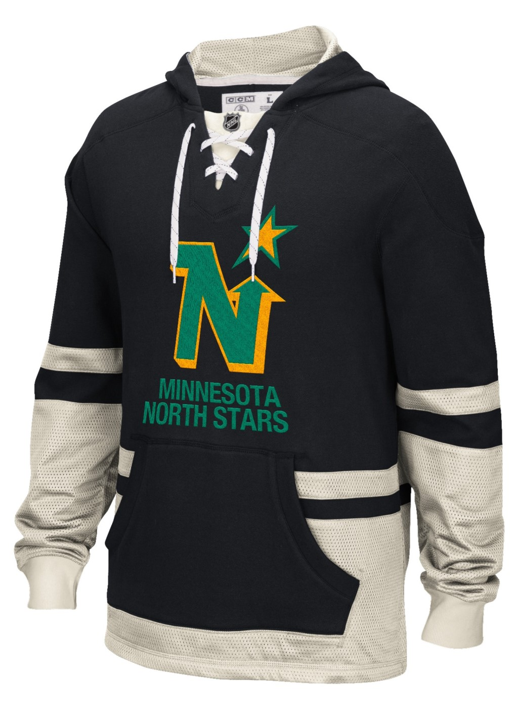 "Minnesota North Stars CCM NHL ""Hit the Boards"" Men's Vintage Jersey Sweatshirt"