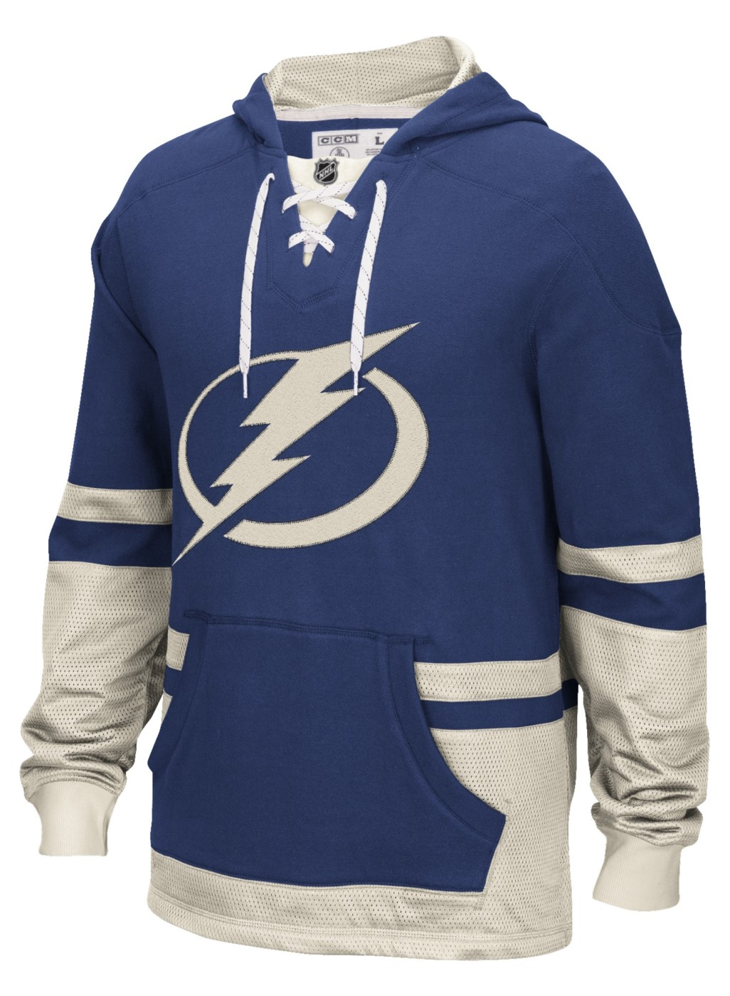 "Tampa Bay Lightning CCM NHL ""Hit the Boards"" Men's Vintage Jersey Sweatshirt"