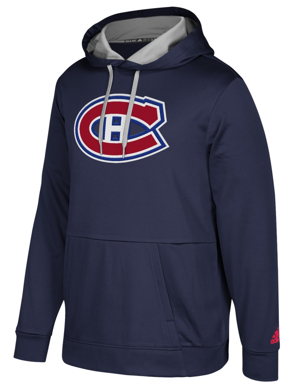 "Montreal Canadiens Adidas NHL Men's ""Checking"" Pullover Hooded Sweatshirt"