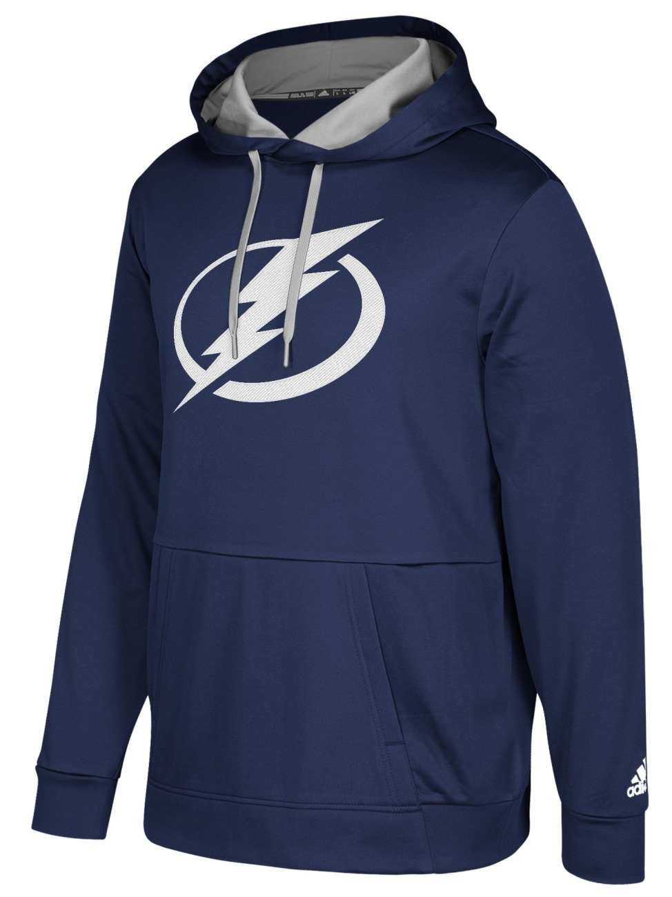 "Tampa Bay Lightning Adidas NHL Men's ""Checking"" Pullover Hooded Sweatshirt"