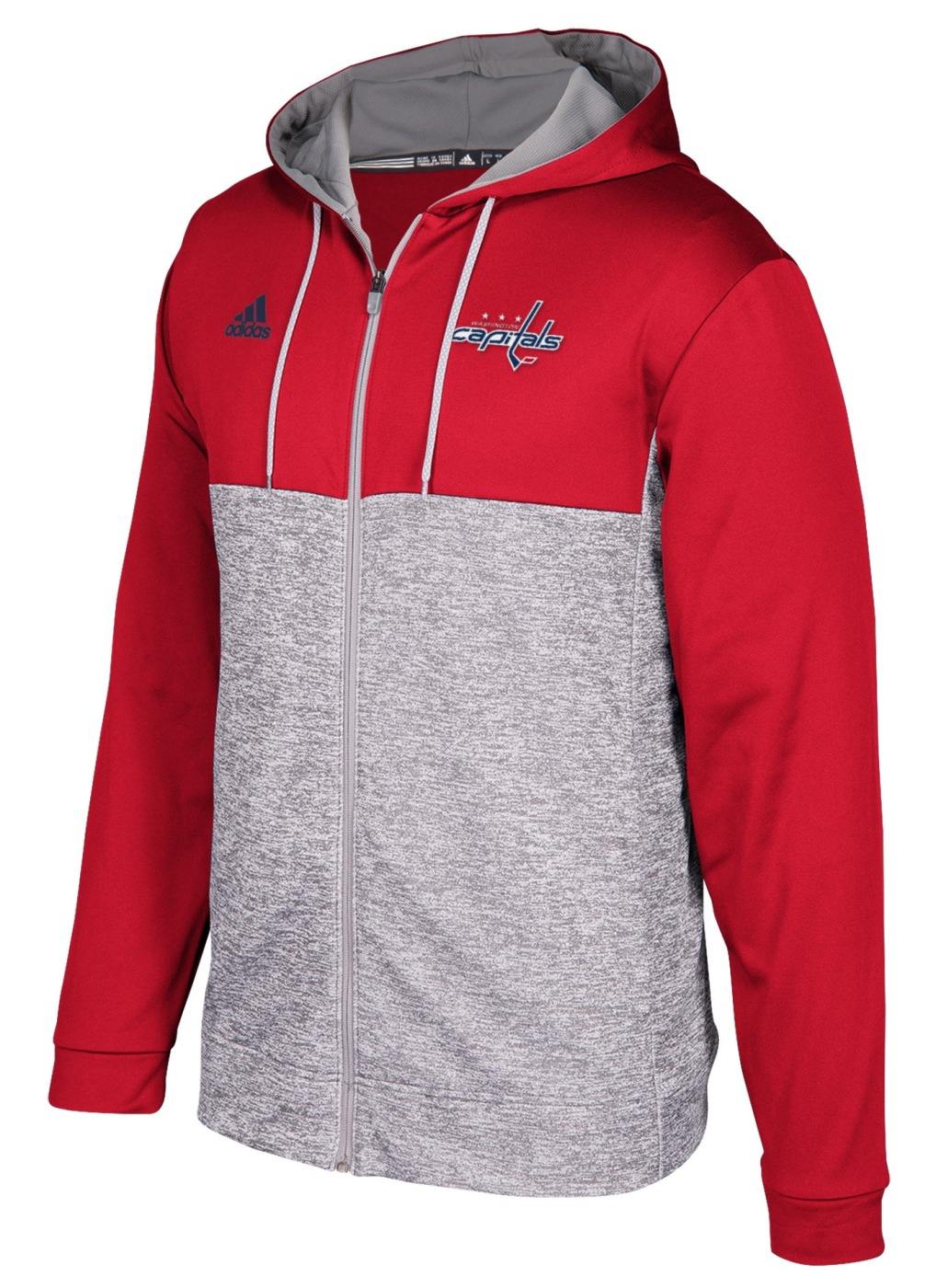 "Washington Capitals Adidas NHL Men's ""Blocking"" Full Zip Hooded Sweatshirt"