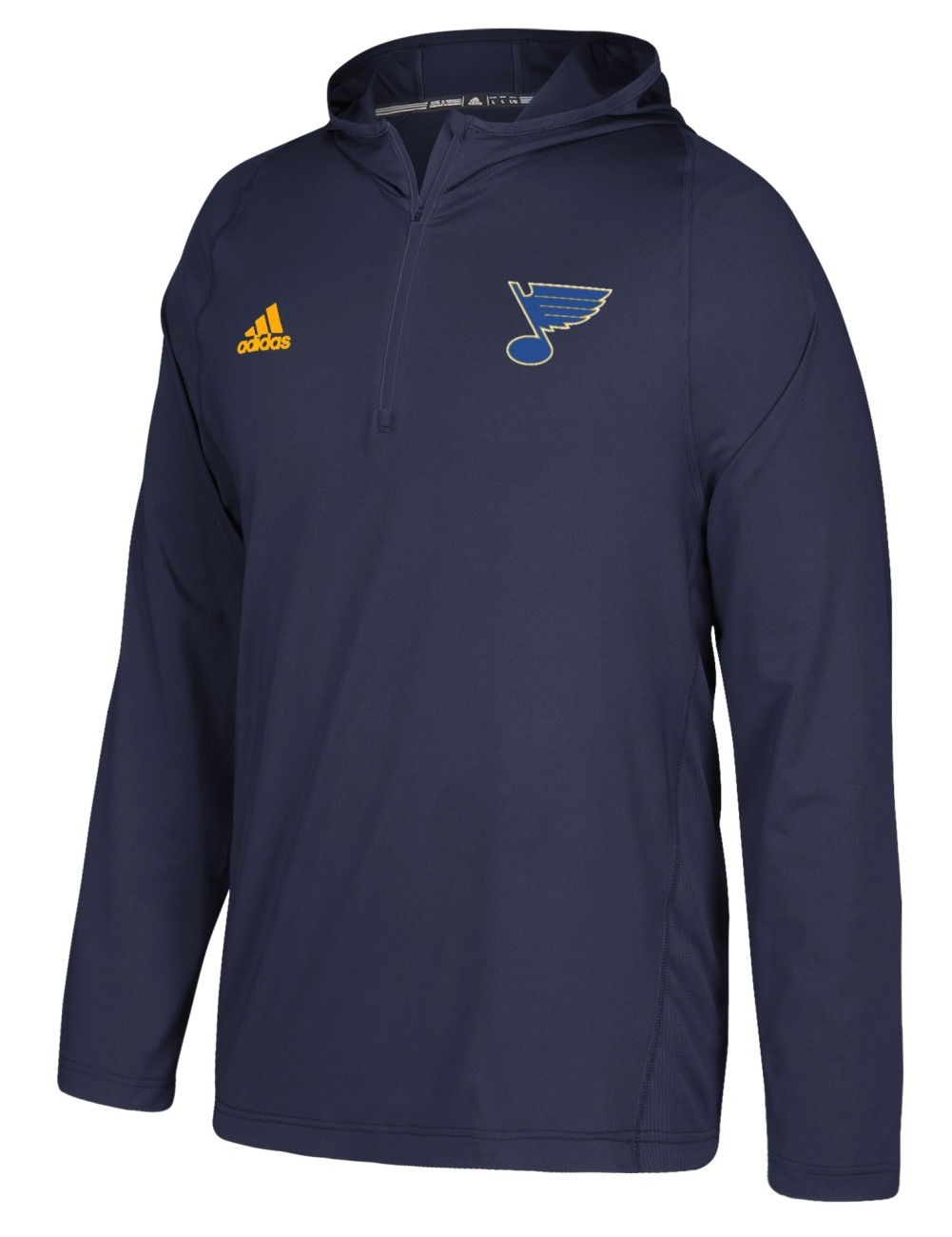 St. Louis Blues Adidas NHL Men's 2017 Authentic Training Hooded Sweatshirt