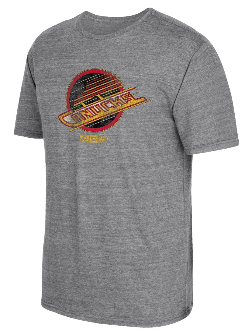 "Vancouver Canucks CCM ""Heritage Logo"" Distressed Premium Tri-Blend T-Shirt"