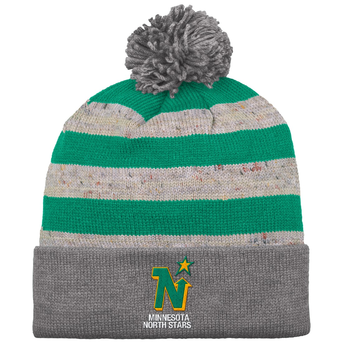 "Minnesota North Stars Mitchell & Ness NHL ""Speckled Crown"" Cuffed Knit Hat w/ Pom"