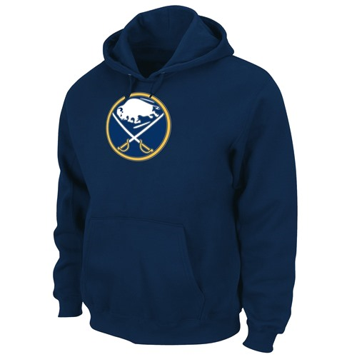 Buffalo Sabres Majestic Felt Tek Patch Navy Hooded Sweatshirt
