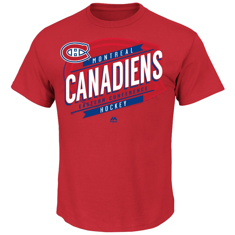"Montreal Canadiens Majestic NHL ""Earn Each Play"" Men's Fashion T-Shirt"