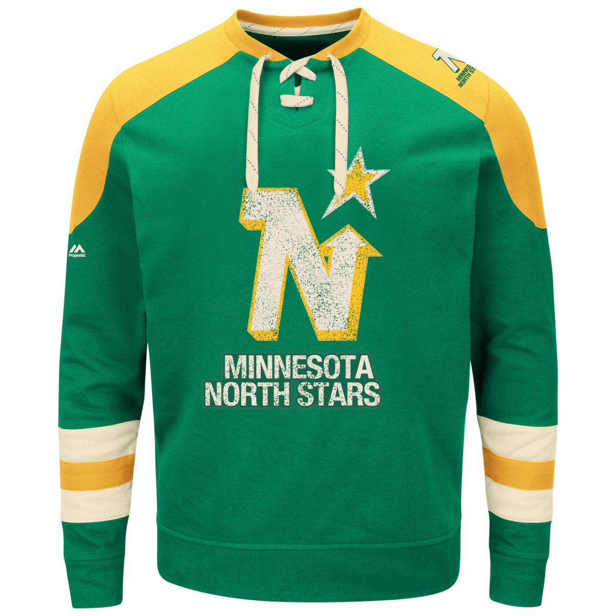 Minnesota North Stars Majestic NHL Vintage Centre Men's Pullover Crew Sweatshirt