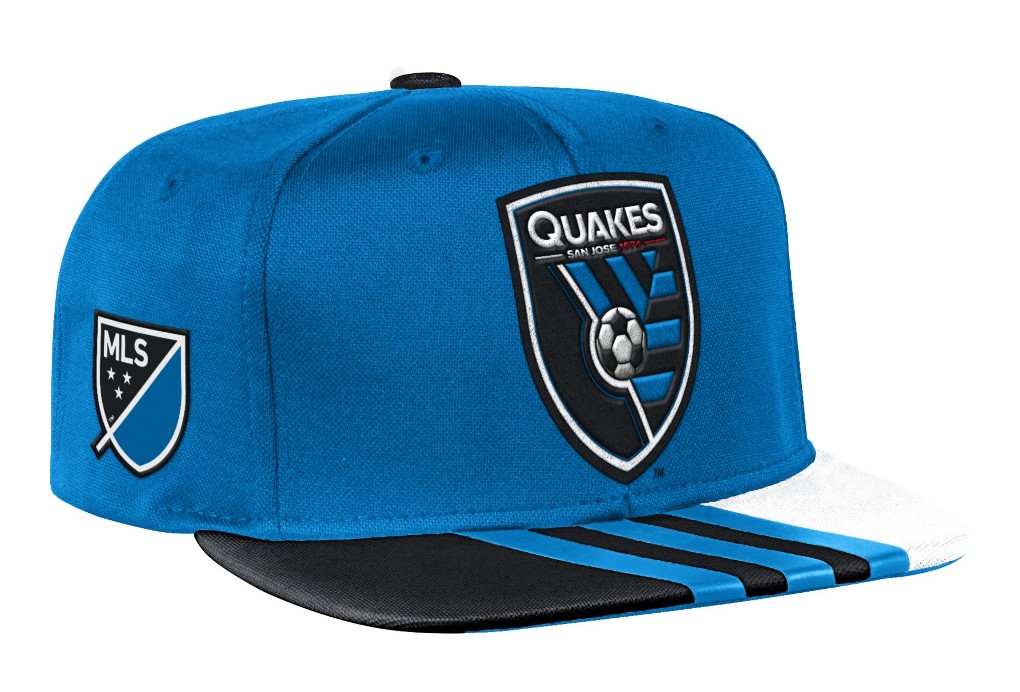 San Jose Earthquakes Adidas MLS 2017 Authentic Team Performance Snap Back Hat