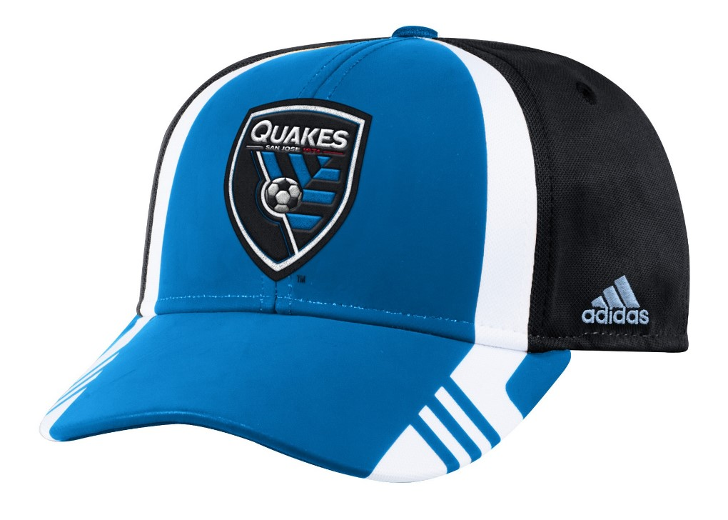 San Jose Earthquakes Adidas MLS 2017 Authentic Team Structured Adjustable Hat