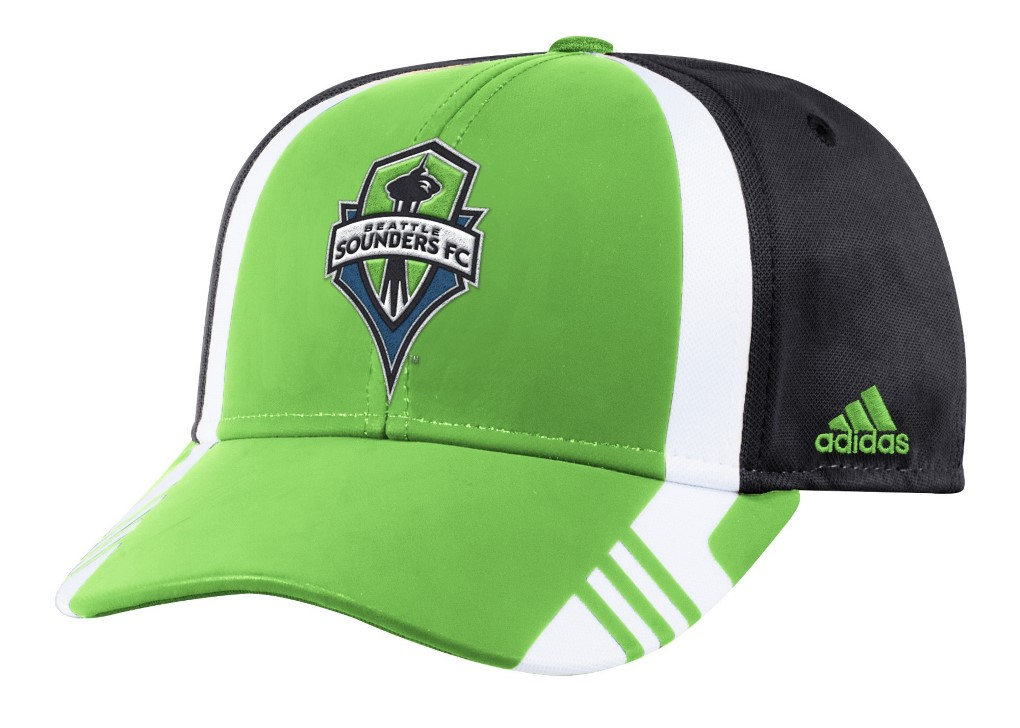 Seattle Sounders Adidas MLS 2017 Authentic Team Structured Adjustable Hat
