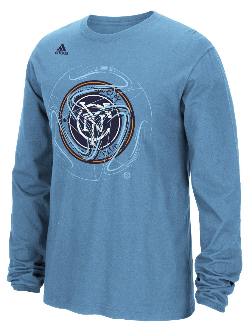 "New York City FC Adidas MLS ""Prime Time II"" Long Sleeve T-Shirt"