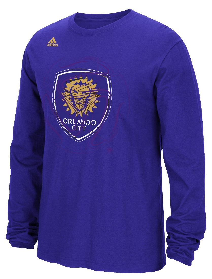 "Orlando City SC Adidas MLS ""Prime Time II"" Long Sleeve T-Shirt"
