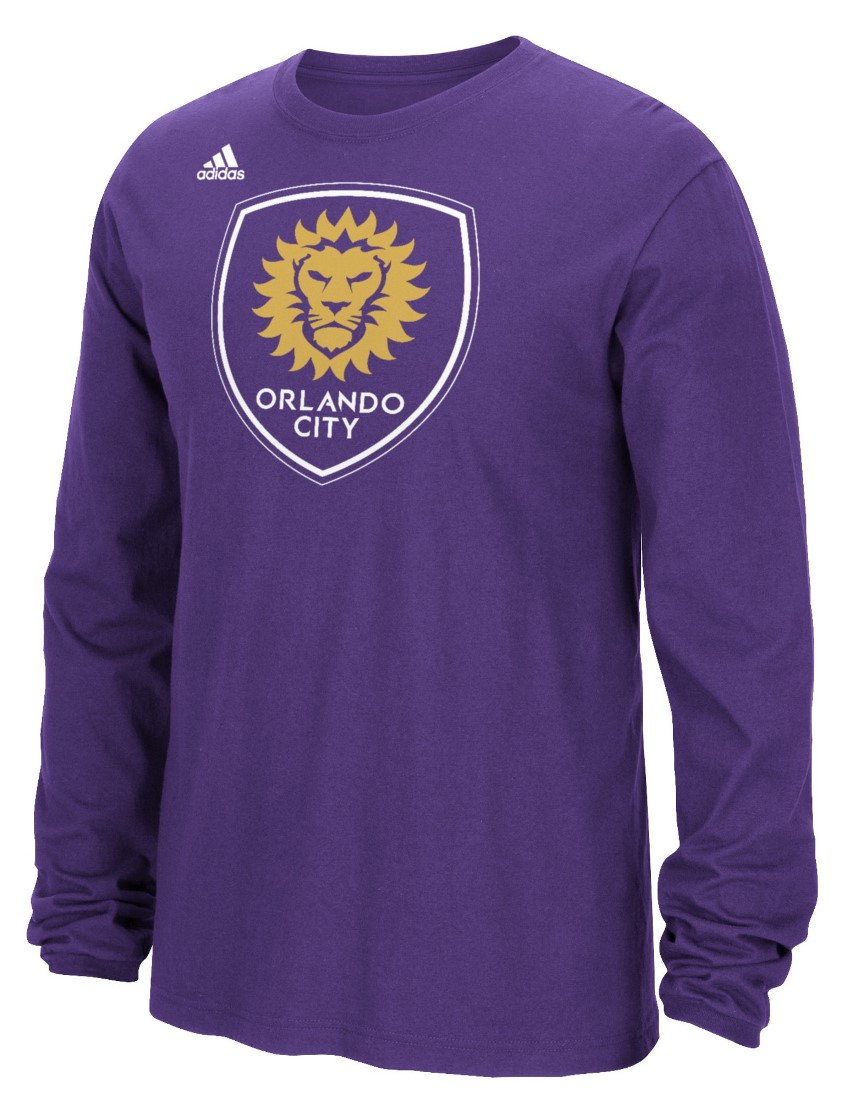 "Orlando City SC Adidas MLS ""Logo Set"" Men's Long Sleeve T-Shirt"