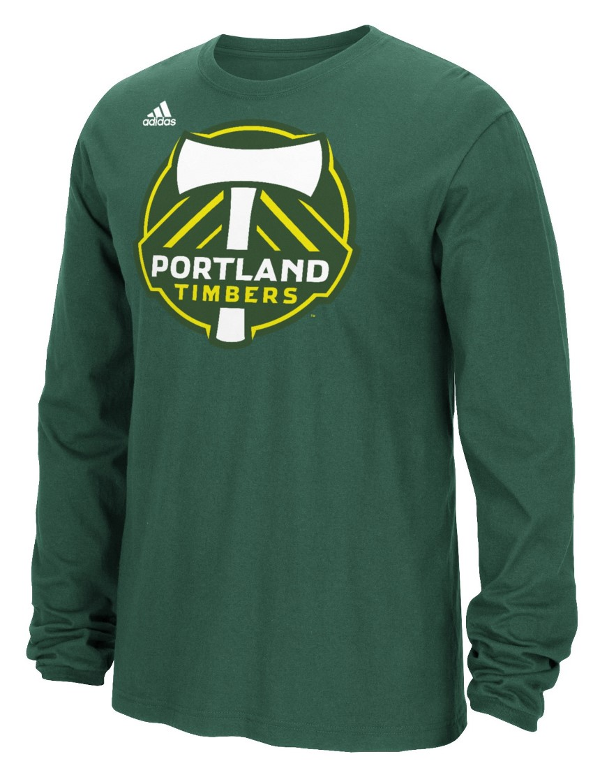 "Portland Timbers Adidas MLS ""Logo Set"" Men's Long Sleeve T-Shirt"