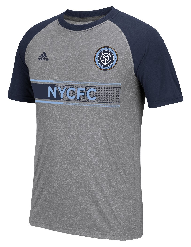 "New York City FC Adidas MLS ""Midfielder"" Men's Climalite S/S T-Shirt"