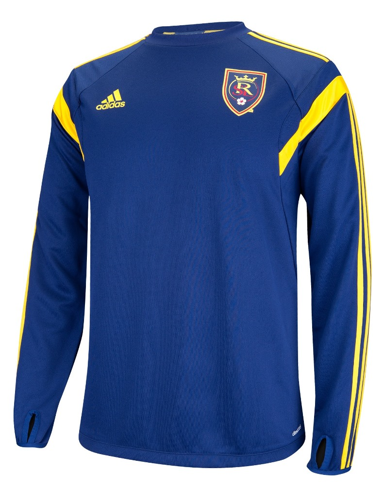 Real Salt Lake Adidas MLS Training Performance Long Sleeve Jersey Top