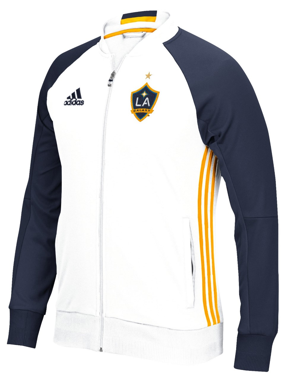 "Los Angeles Galaxy Adidas MLS ""Anthem"" Men's Sideline Full Zip Jacket"