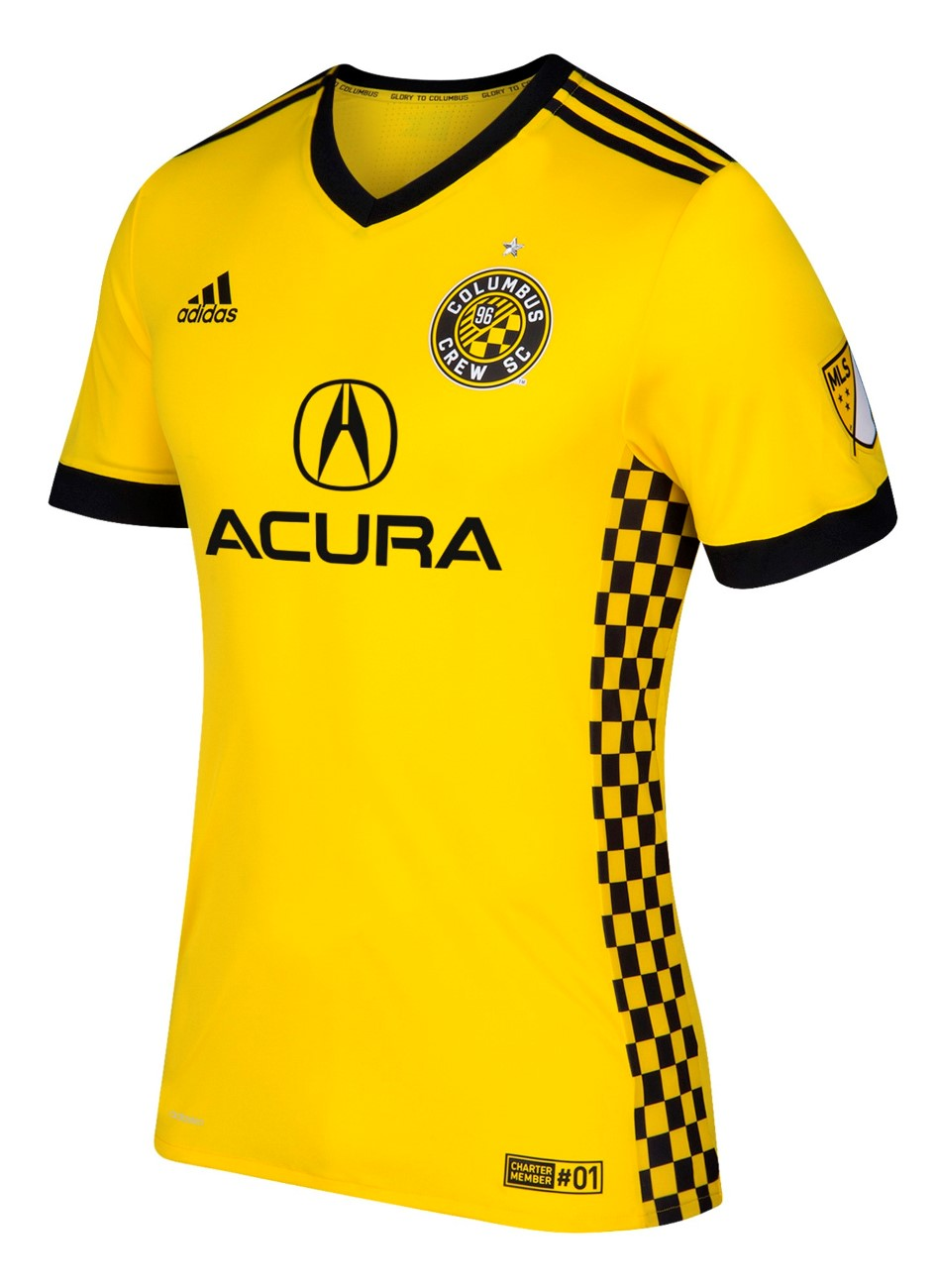 Columbus Crew Adidas MLS Performance Yellow Authentic Game Jersey